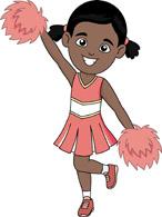 african american cheerleader dances clipart
